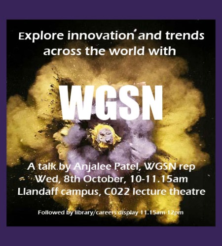 Trend forecasting lecture from WGSN for CSAD students & staff