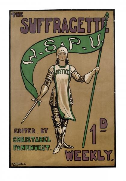'The Suffragette', 1912 (colour litho)